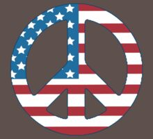 4th July Peace One Piece - Short Sleeve