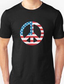 4th July Peace Unisex T-Shirt