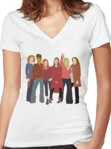 The Women of Doctor Who  Women's Fitted V-Neck T-Shirt