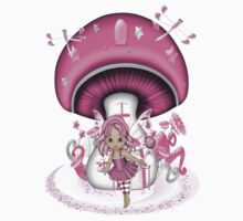 Little Pink Fairy .. tee shirt by LoneAngel