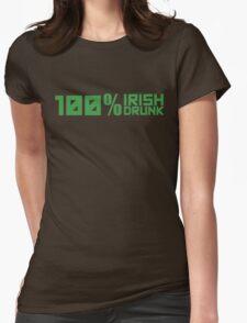 100% Irish 100% Drunk Womens Fitted T-Shirt