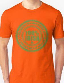 St Patricks Day 100% Irish Stamp T-Shirt