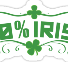 100% Irish Floral Sticker
