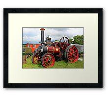 Evedon Lad Traction Engine Framed Print