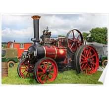 Evedon Lad Traction Engine Poster