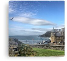 Castle, College and Constitution Hill  Aberystwyth  Canvas Print