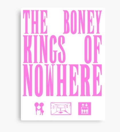 The Boney Kings of Nowhere -Pink Canvas Print