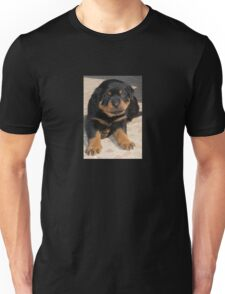 Rottweiler Puppy With Perplexed Facial Expression Unisex T-Shirt