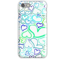 Green hearts iPhone Case/Skin