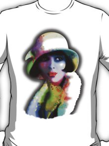Girl's Twenties Vintage Glamour Art Portrait T-Shirt
