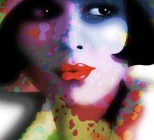 Girl's Twenties Vintage Glamour Art Portrait Sticker