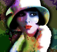 Girl's Twenties Vintage Glamour Art Portrait by BluedarkArt