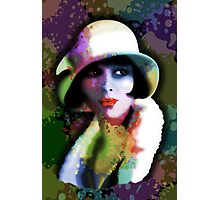 Girl's Twenties Vintage Glamour Art Portrait Photographic Print