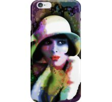 Girl's Twenties Vintage Glamour Art Portrait iPhone Case/Skin