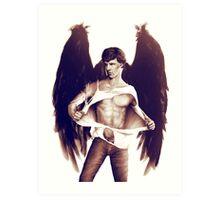 Sexy Benedict Cumberbatch / Winged Sherlock V2 Art Print