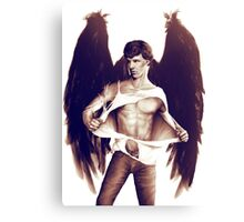 Sexy Benedict Cumberbatch / Winged Sherlock V2 Canvas Print