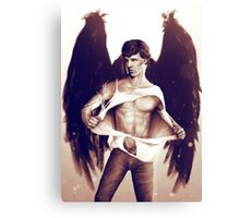 Sexy Benedict Cumberbatch / Winged Sherlock V3 Canvas Print