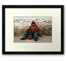 People 4211 The Shoeshiners Framed Print