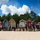 Beach Hut Panorama  by cameraimagery
