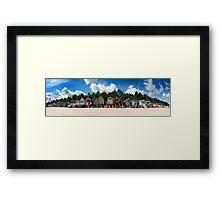 Beach Hut Panorama  Framed Print