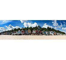 Beach Hut Panorama  Photographic Print