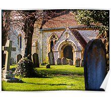 St Mary's Church Kintbury Berkshire Poster