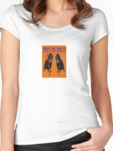Cute Rottweiler Halloween Trick or Treat Greeting Women's Fitted Scoop T-Shirt