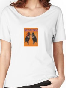 Cute Rottweiler Halloween Trick or Treat Greeting Women's Relaxed Fit T-Shirt