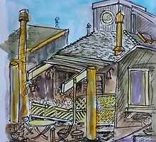 Watercolor Sketch - 7 Issaquah Dock, Sausalito, Califonia 2012 by Igor Pozdnyakov
