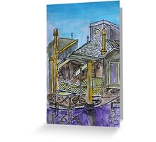 Watercolor Sketch - 7 Issaquah Dock, Sausalito, Califonia 2012 Greeting Card