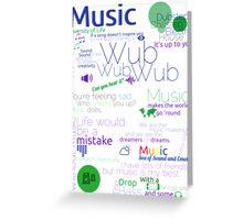 Music Typography Tee Greeting Card