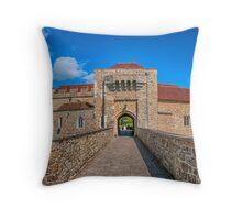 Moat House Leeds Castle Throw Pillow