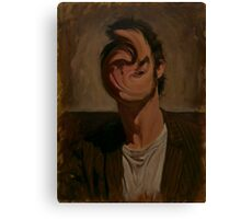 Self Portrait With Deformed Face Canvas Print