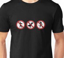 Interdit aux monstres Unisex T-Shirt