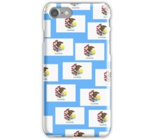 Smartphone Case - State Flag of Illinois - Patchwork Light Blue iPhone Case/Skin