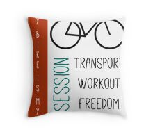 Bicycle obsession Throw Pillow