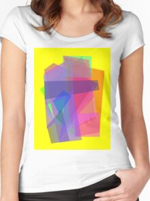 Transparency Yellow Women's Fitted Scoop T-Shirt