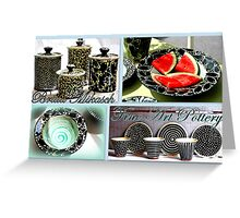 Fine Art Pottery by Britta Mikasch Greeting Card