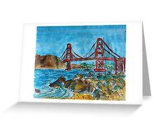 Watercolor Sketch - Golden Gate Bridge. 2013 Greeting Card