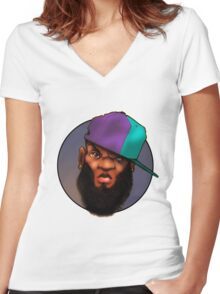 Beard n Jordans Women's Fitted V-Neck T-Shirt