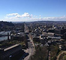 Castle Hill from Calton Hill. Edinburgh.  by LBMcNicoll