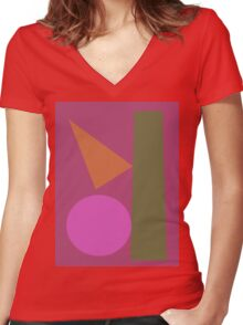 Slow Talk 2 Women's Fitted V-Neck T-Shirt