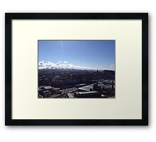 A view to the Pentland hills from Calton hill. Edinburgh #1 Framed Print