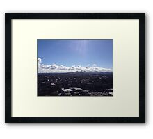 A view to the Pentland Hills from Calton Hill, Edinburgh #2 Framed Print