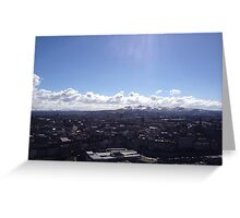 A view to the Pentland Hills from Calton Hill, Edinburgh #2 Greeting Card
