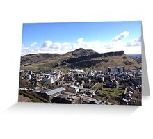 View from Calton Hill toward Arthur's Seat,  Edinburgh Greeting Card