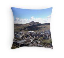 View from Calton Hill toward Arthur's Seat,  Edinburgh Throw Pillow