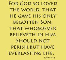 John 3:16 - King James (Bible Verses) Kids Clothes