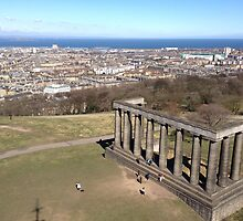 View of the National Monument of Scotland, Calton Hill.  Edinburgh by LBMcNicoll