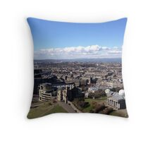 View from the Nelson Monument, Calton Hill, Edinburgh Throw Pillow